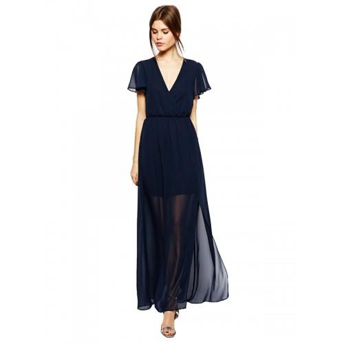 f48fa693c فستان شيفون طويل مميز