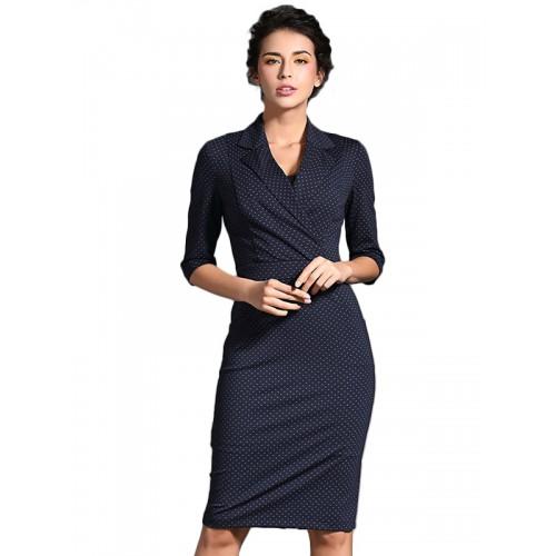 فستان متوسط الطول بنصف كم
