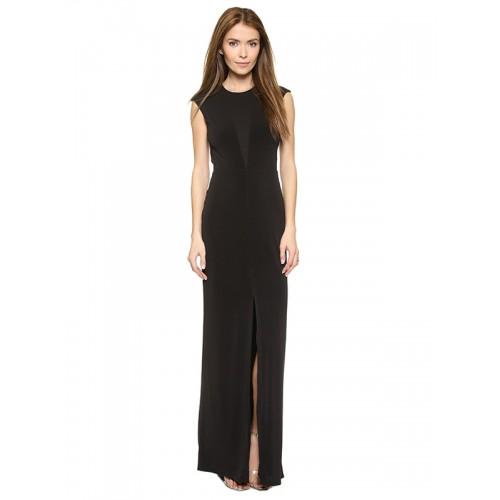فستان ماكسي أسود عاري الخلف