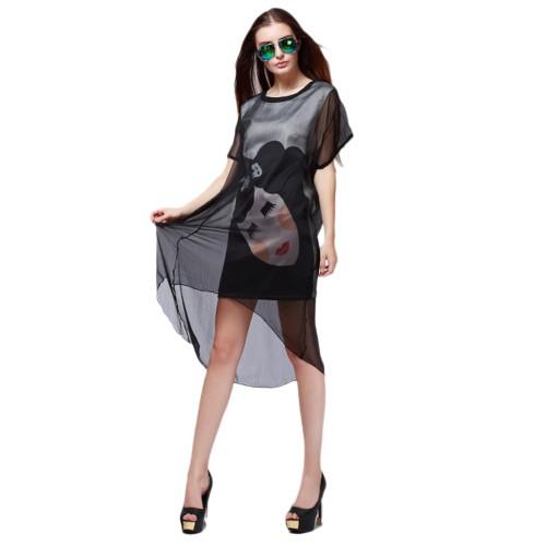 فستان  قصير تصميم جديد