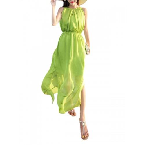 فستان  بلا أكمام مناسب للشاطئ