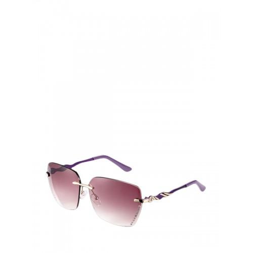 573e3b542 النظارات الشمسية الرجالية ذات العدسات الملونة بلون الخمرة الحمراء والمزية  بأحجار الراين كما أنها بدون اطار