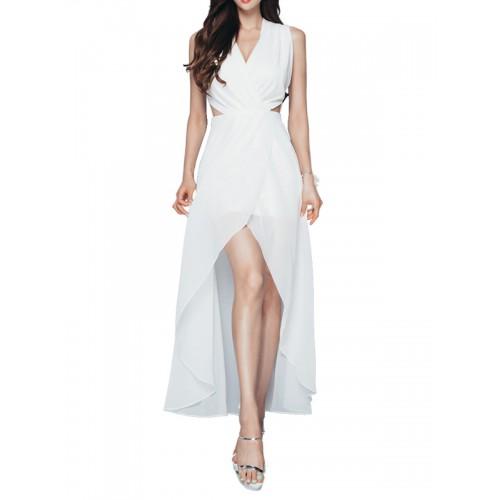 فستان طويل بلا أكمام متميز