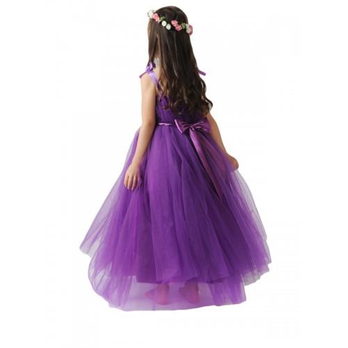 7037efbd1f229 ملابس للأطفال فستان الأميرة بنّاتي للمناسبات أنيق ساده مع حزام الخصر