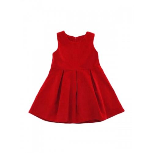 794df85bf41ff ملابس الأطفال فستان بنّاتي ساده بلا أكمام رقبة مدورة