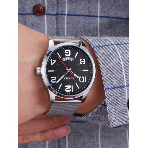 941879e2b ساعة اليد الرجالية كورين ذات التصميم الأنيق ومقياسين لقياس الوقت