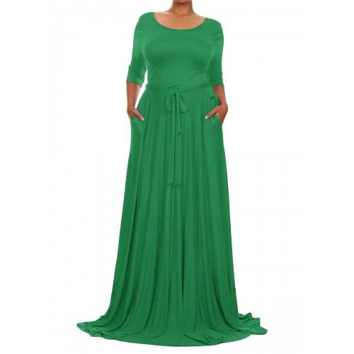 فستان طويل مقاس كبير