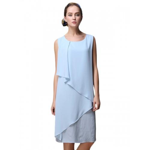 فستان قصير نسائي بلا أكمام